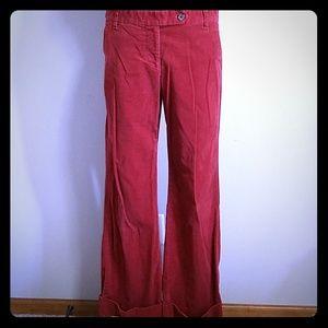 J. Crew Burnt Orange Corduroy Pants